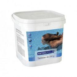 ACTION-10 DESINFECTANTE CON CLORO MULTIAC. 5 kg 250gr - FORMATO CUADRADO