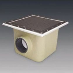 SUMIDERO PISC. PREF. POL. Y F.V. 515x515 mm SAL. 160 REJILLA INOX