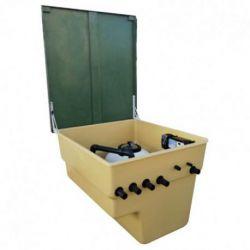 CASETA ENT RA 600 1CV + ELECT SEL CLEAR 95 + CONTROL PH + VALV. VACIADO Y LLENADO