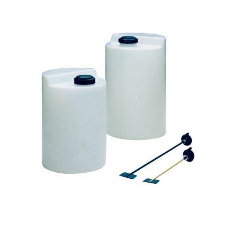 DEPOSITOS DOSIFICADORES PE 500 l  (Ø 800 mm, alt. 1.200 mm)